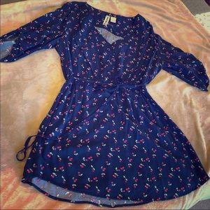 Mini Chica Navy blue Cherry Dress